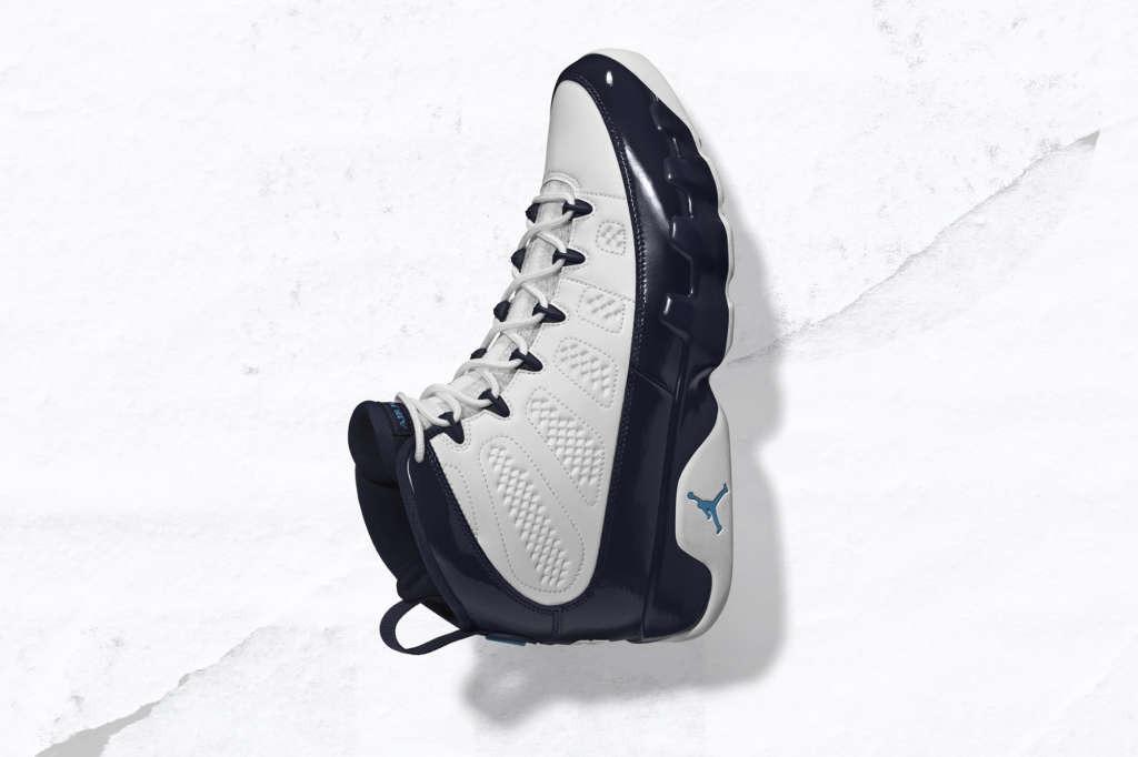 "Air Jordan 9 ""White/Midnight Navy/University Blue"""