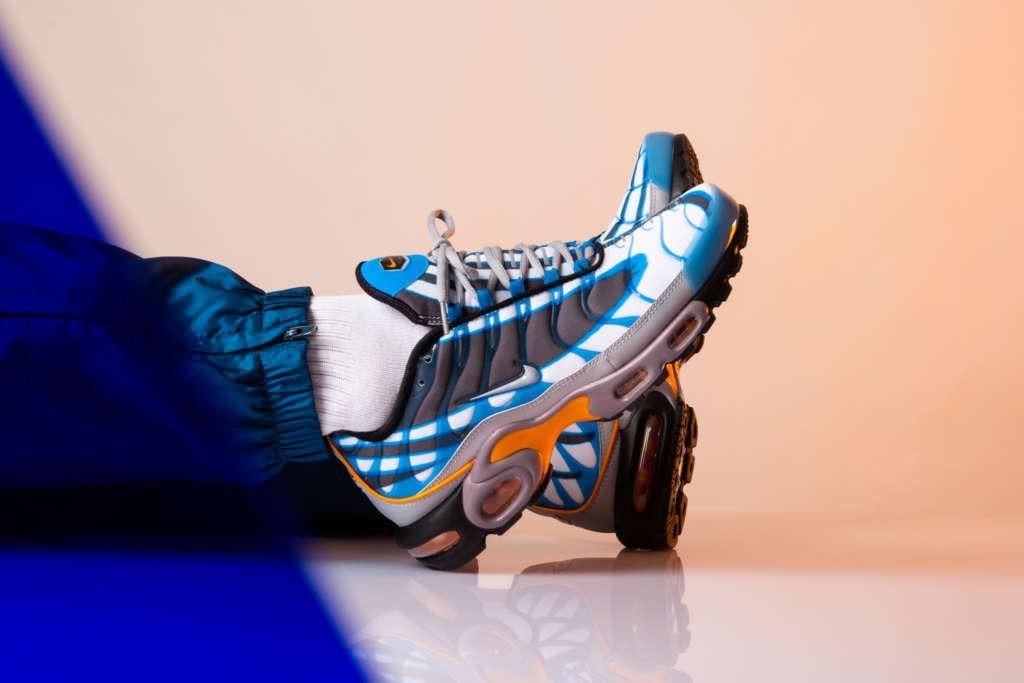 Nike Air Max Plus Premium In Photo Blue Orange Peel Eukicks