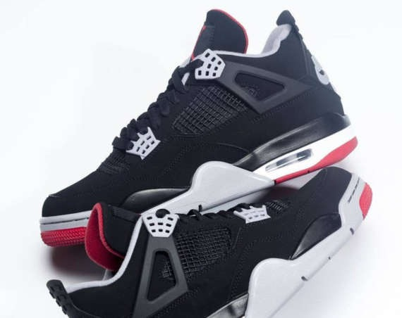 "cheap for discount d4abf b89ab Air Jordan 4 ""Black Red"" 2019 Retro   First Look Preview"