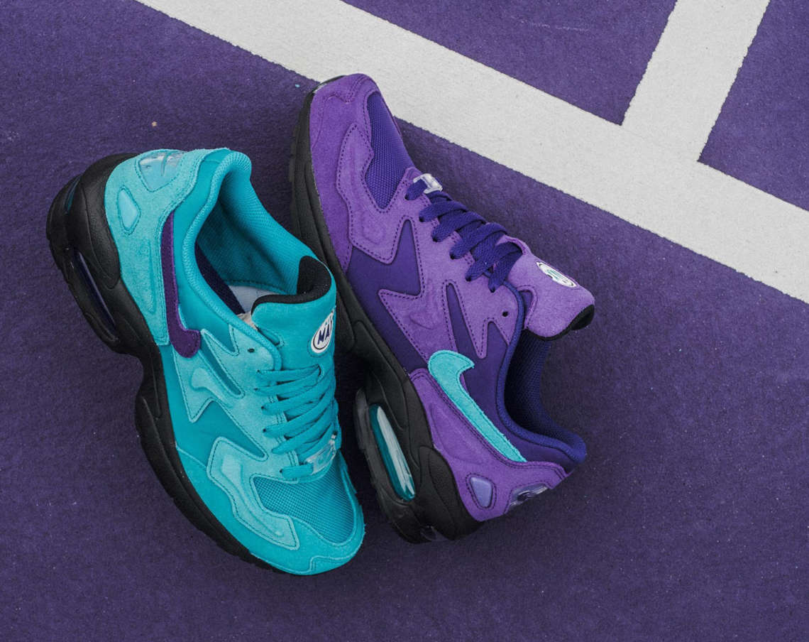 """low priced fa728 10cc3 Nike Air Max2 Light """"Charlotte Hornets"""" Pack"""