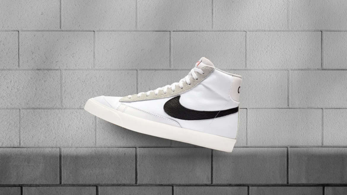 964412b49e26 Milan based Slam Jam has teamed with Nike to offer a fresh take on the  Blazer Mid. The design is crisp in sail white with black detailing.