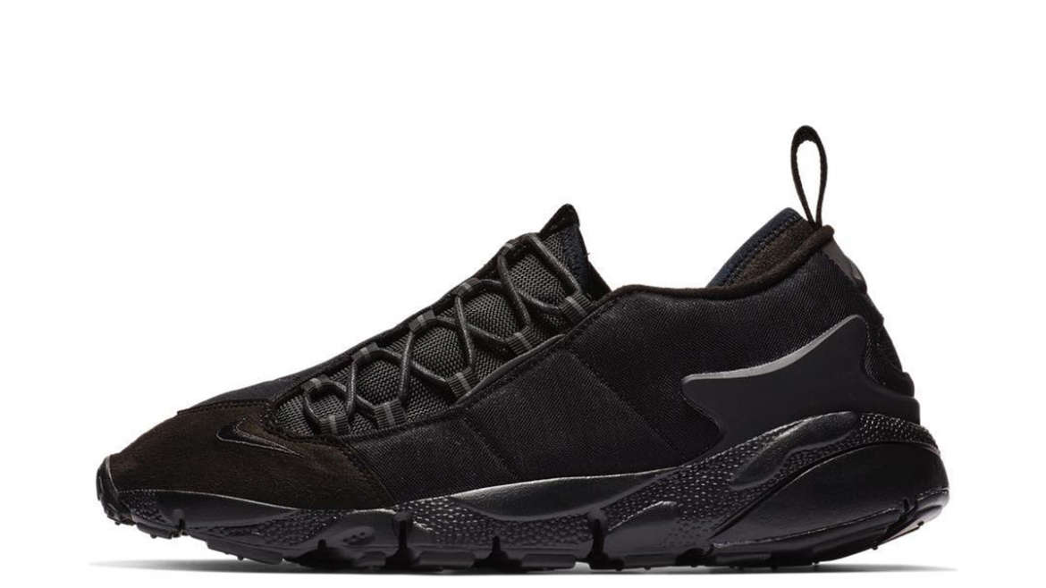 8813939d2dbb BLACK COMME des GARÇONS has just dropped a black colorway of the Nike Air  Footscape. Grey accented
