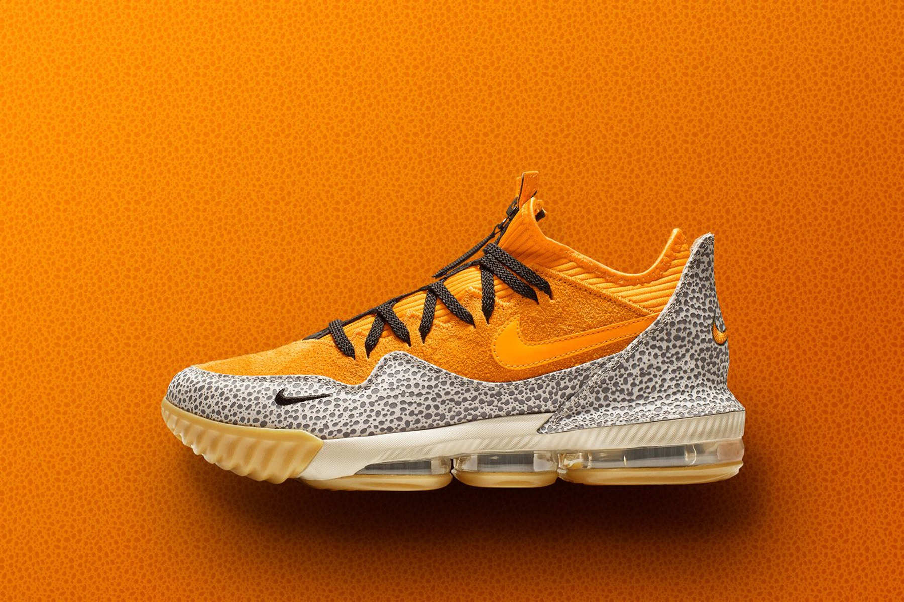 """c72ba089e11f Nike is making connections to 2003 to create the LeBron 16 Low x atmos  """"Safari""""."""