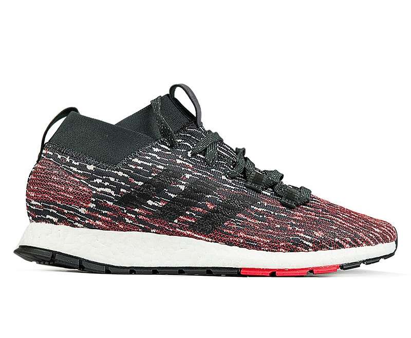 adidas Pureboost RBL Carbon/ Core Black/ Active Red