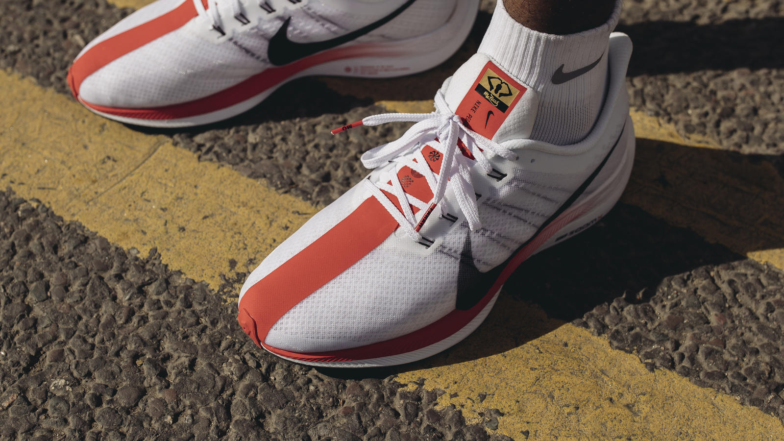 a96f25dac46 The Mo Farah edition of the Nike Zoom Pegasus 35 Turbo will soon release in  a London themed colorway. The performance runner is set in white with a  clay ...