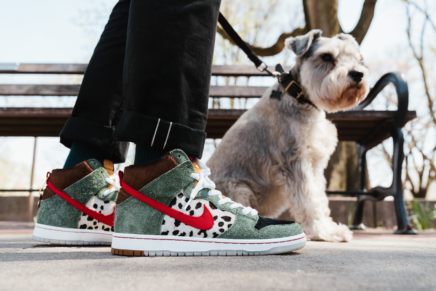 "low priced 43c6d 5f6c8 Here is a closer look at the ""Walk the Dog"" Nike SB Dunk High that we  recently previewed. The sneaker will launch on 4 20 and yes the design is  influenced ..."