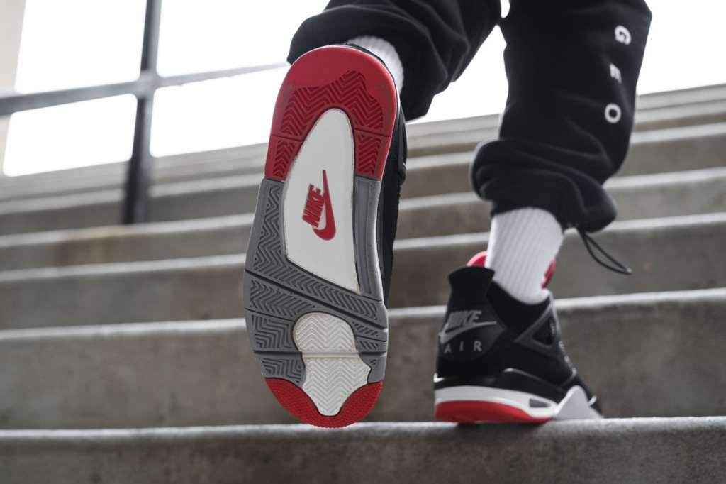 2e49ecfc9b5 On-Foot: Air Jordan 4 BRED - EUKICKS