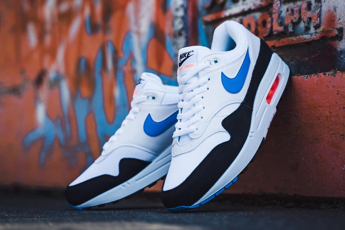 Nike Air Max 1 in White, Photo Blue