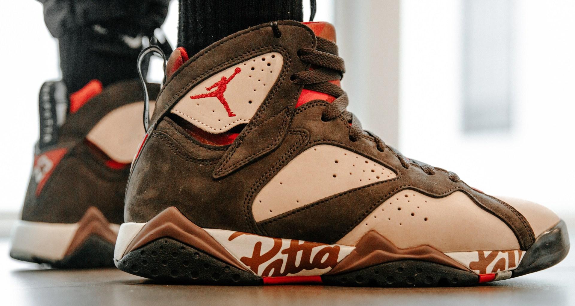 ed23d936a459ea On-Foot  Air Jordan 7 x Patta - EUKICKS