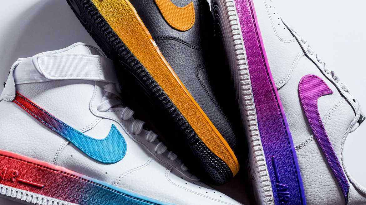 new product b05d4 81291 Nike Sportswear offers up stylized takes on the Air Force 1 through its LV8  series. The latest example is the application of gradient color flows.