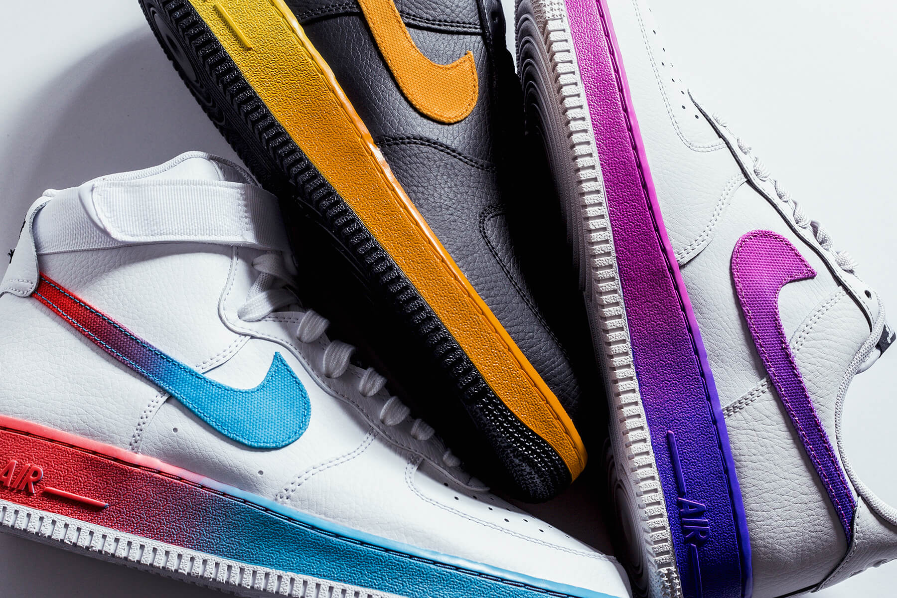 Nike Air Force 1 07 Lv8 In Three Gradient Colorways For Summer Eukicks