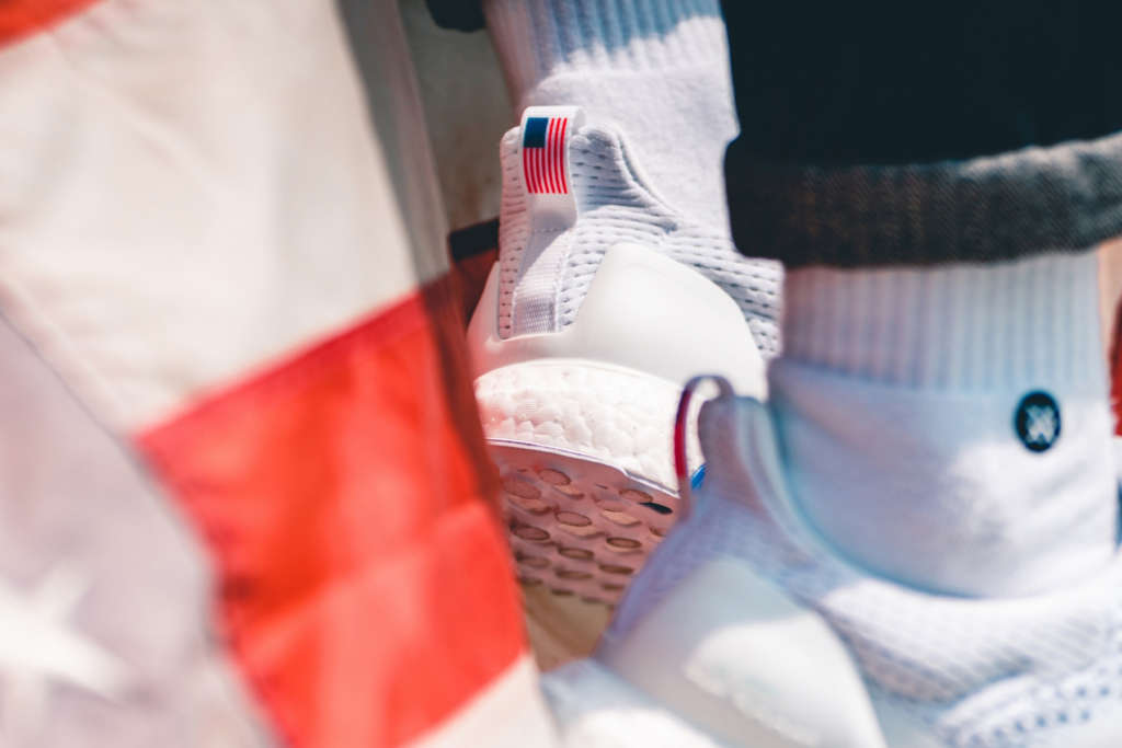 """8b91aafe1 The UNDFTD x adidas UltraBOOST """"Stars and Stripes"""" is now available trough  Undefeated. The sneaker will have a wider release on the 31st of May at  shops ..."""