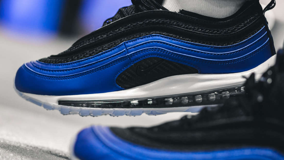 85933e1211a51 Nike Sportswear is drawing from the OG Air Foamposite to construct its  latest Air Max 97. The referential design is achieved with an icy sole,  carbon fiber ...