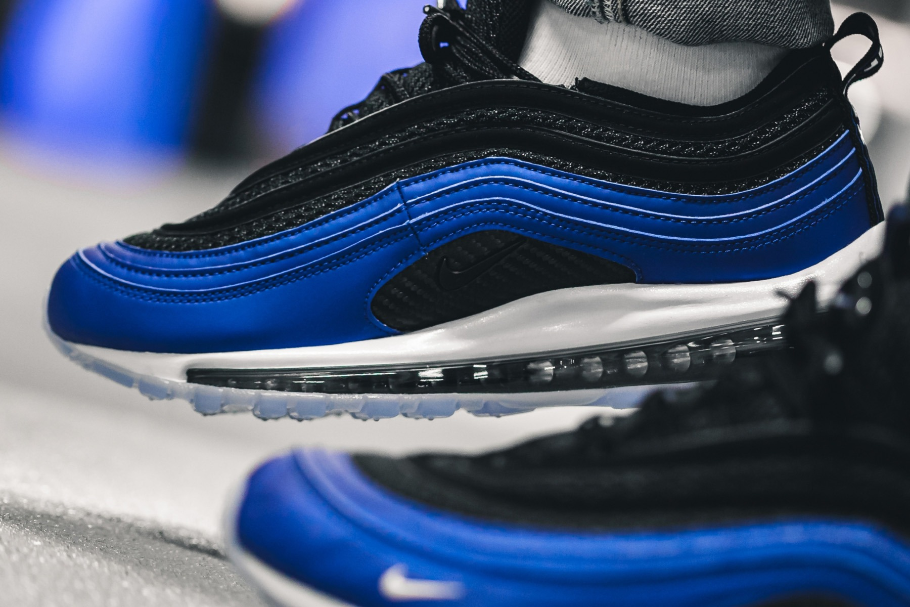 pretty nice 4e1d9 05192 Nike Sportswear is drawing from the OG Air Foamposite to construct its  latest Air Max 97. The referential design is achieved with an icy sole,  carbon fiber ...