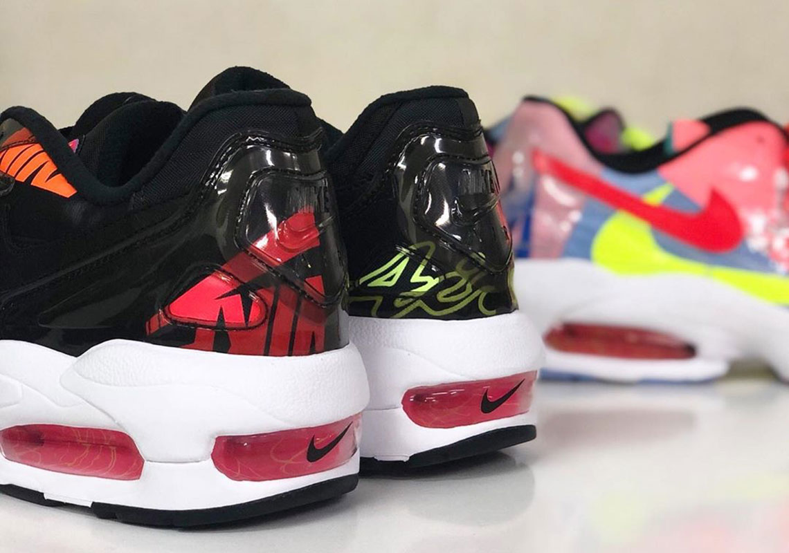 "a8e6417bfe As part of Nike's ""Visions of Air"" collection, atmos delivered the Air Max2  Light in colorful form. The vibrant collage of collars was created with a  ..."